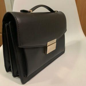 Faux leather black bag